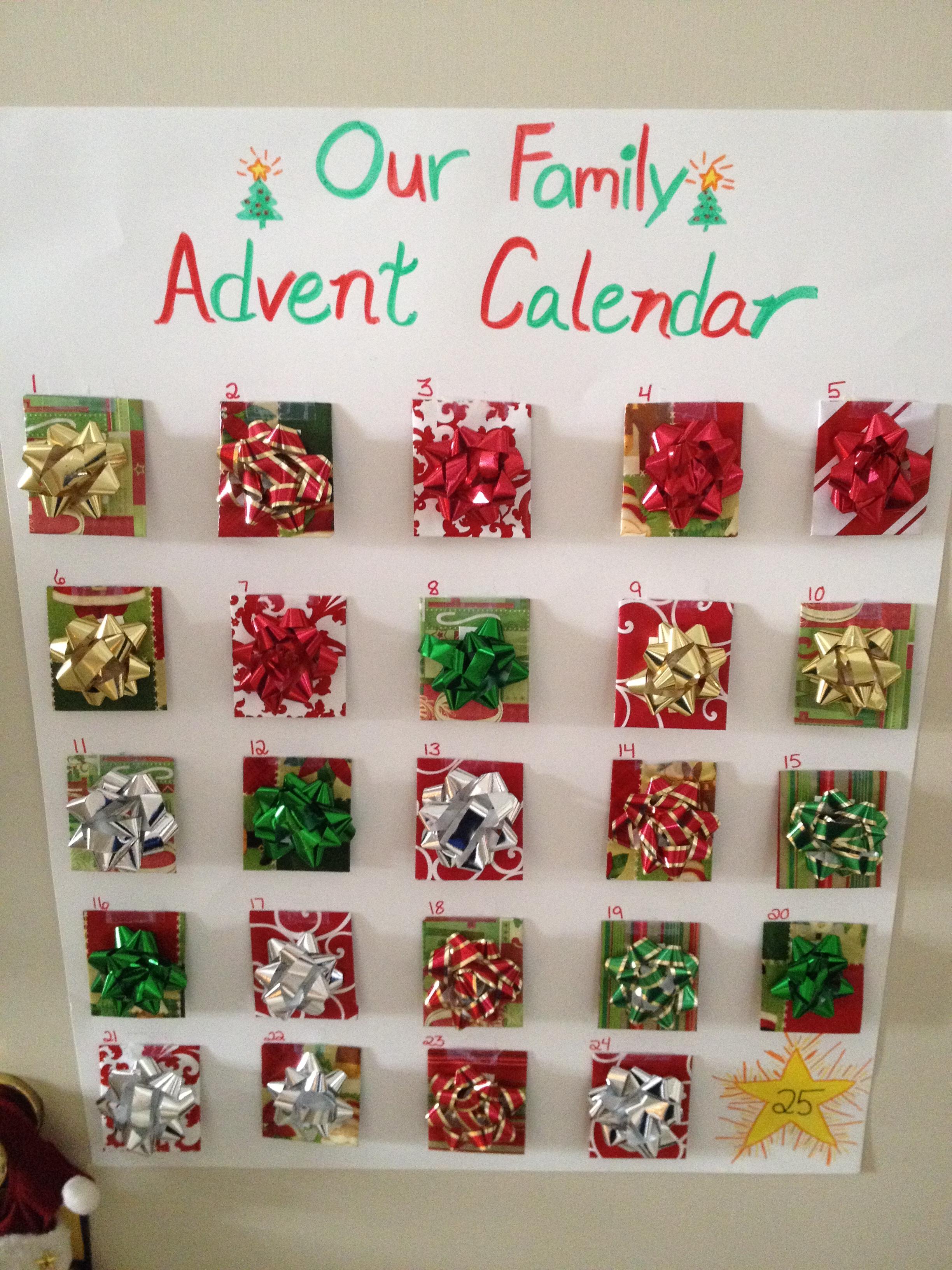 Advent Calendar Design Your Own : Allergy friendly advent calendar for christmas the food