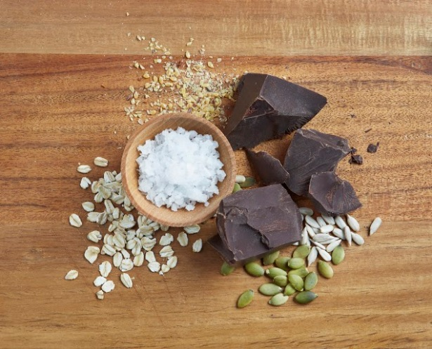 Chocolate & Sea Salt Bar Ingredients (photo courtesy of 88 Acres)